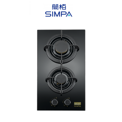 SIMPA 簡栢 SHZB12S-G 雙爐頭嵌入式煤氣面平爐