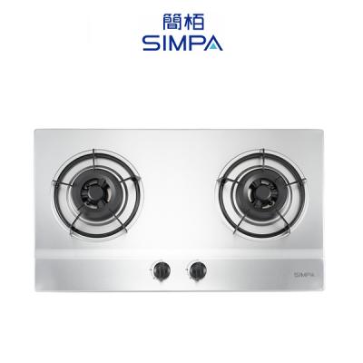 SIMPA 簡栢 SHZB62S 不銹鋼雙爐頭嵌入式面平面爐