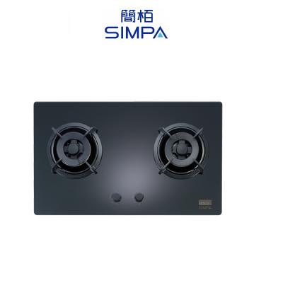 SIMPA 簡栢 SHZB62S-G 雙爐頭嵌入式面平面爐