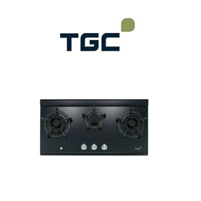 煤氣優質爐具 TGC MEGA3-BR 三爐頭嵌入式極炎火平面爐 黑色