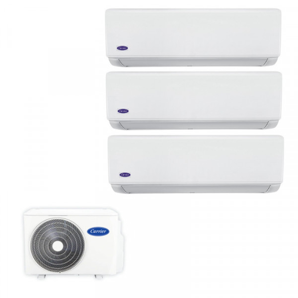 Carrier 開利 38QUS027DS3 變頻冷暖 一拖三分體式冷氣機 3匹拖1匹+1匹+1匹  (包標準安裝)
