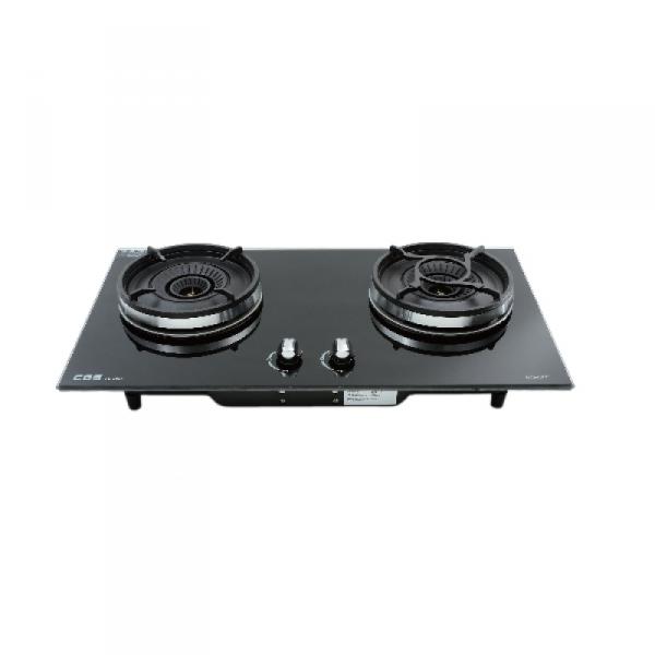 CGS 皇冠牌 CB-2801B 嵌入式雙頭煤氣煮食爐 黑色玻璃面