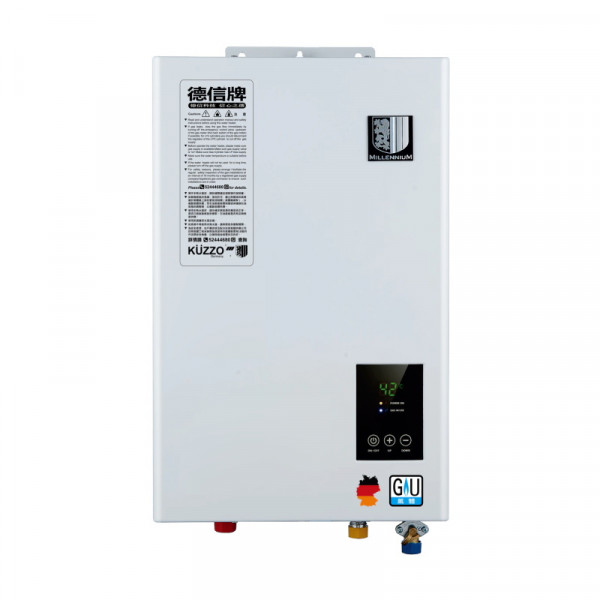 Kuzzo 德信牌 KD-12TFLW 12.0公升/分鐘 石油氣節能熱水器 頂排氣式